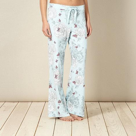 RJR.John Rocha - Designer aqua floral pyjama bottoms