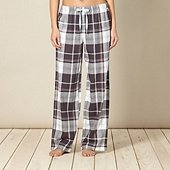 RJR.John Rocha - Designer grey metallic checked pyjama bottoms