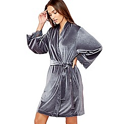 The Collection - Grey velour dressing gown