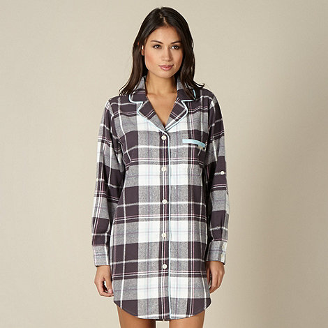 RJR.John Rocha - Designer grey metallic checked nightshirt