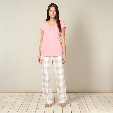 RJR.John Rocha - Designer rose checked pyjama set