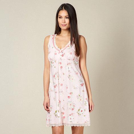 RJR.John Rocha - Designer light pink floral jersey chemise