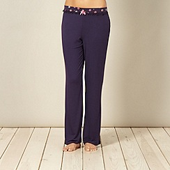 Floozie by Frost French - Navy floral waist long pyjama bottoms