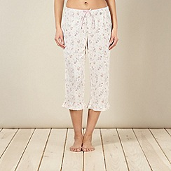 Floozie by Frost French - Cream floral cropped pyjama bottoms