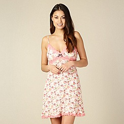 Floozie by Frost French - Pink floral padded cup chemise
