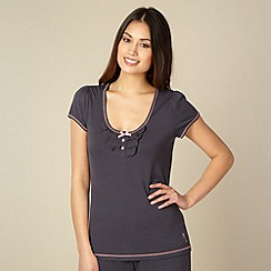 Floozie by Frost French - Dark grey frill pyjama top