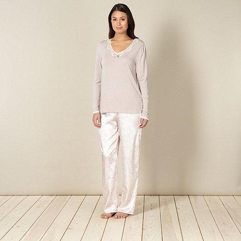 Presence - Pink animal print pyjama set