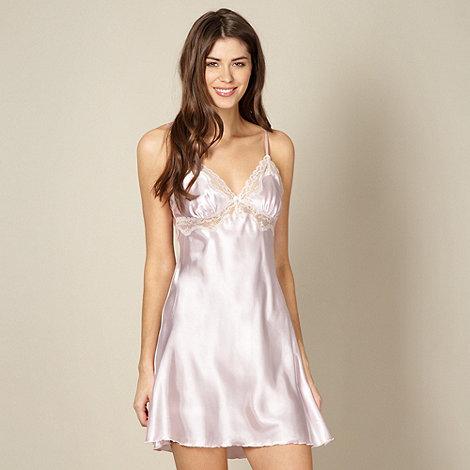 Presence - Pale pink satin chemise