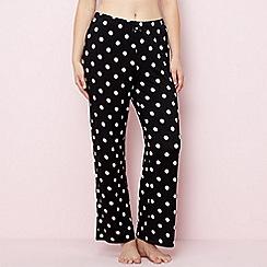 Gorgeous DD+ - Black spot print pyjama bottoms