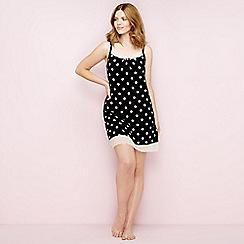 Gorgeous DD+ - Black spot print chemise