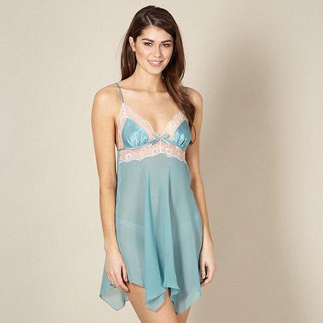Presence - Turquoise chiffon lace chemise