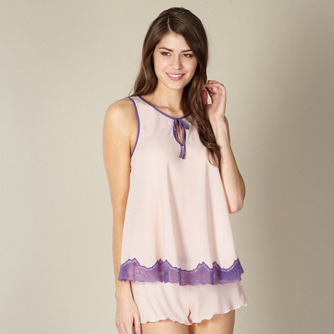 Presence - Pale pink chiffon shorts pyjama set