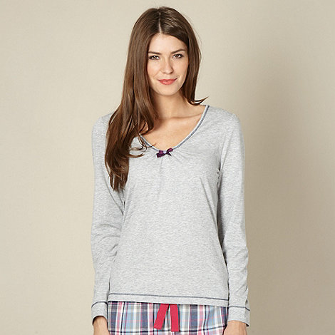 Lounge & Sleep - Grey long sleeve pyjama top