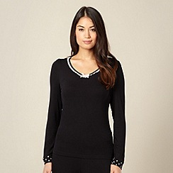 Lounge & Sleep - Black jersey pyjama top
