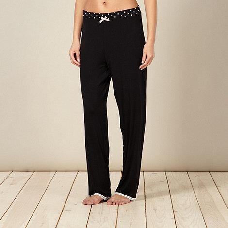 Lounge & Sleep - Black jersey pyjama bottoms