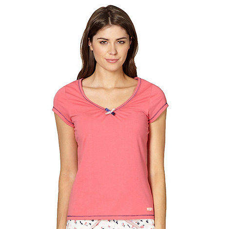 Lounge & Sleep - Pink short sleeved pyjama top