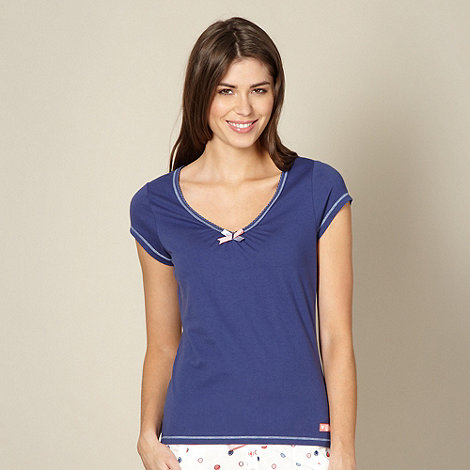 Lounge & Sleep - Blue short sleeved pyjama top