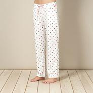 Cream spotted pyjama bottoms