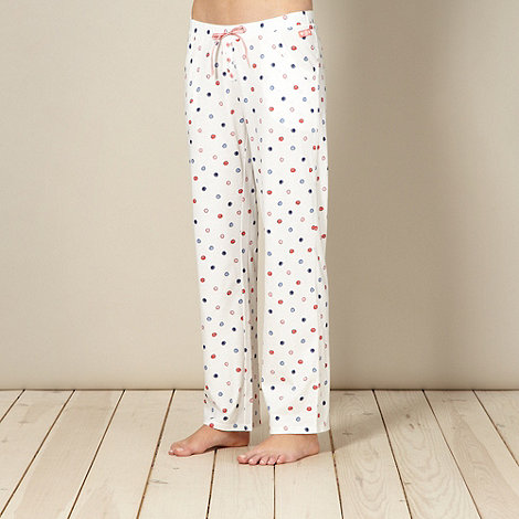 Lounge & Sleep - Cream spotted pyjama bottoms
