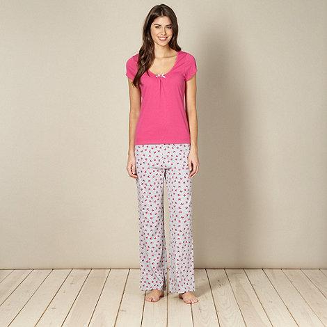Presence - Pink butterfly print pyjama set