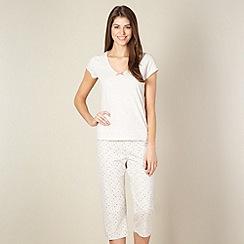 Lounge & Sleep - Beige jersey pyjama top