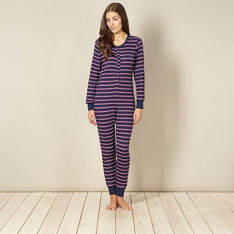 Iris & Edie - Navy stripe popper onesie