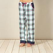 Designer pink checked pyjama bottoms