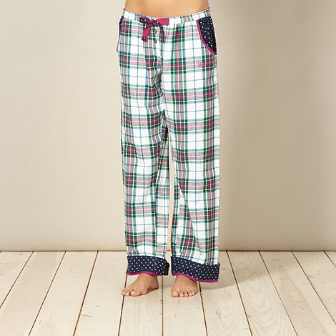 Iris & Edie - Designer pink checked pyjama bottoms