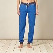 Designer blue sweat pyjama jogging bottoms