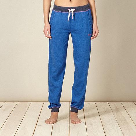 Iris & Edie - Designer blue sweat pyjama jogging bottoms