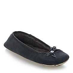 J by Jasper Conran - Dark grey suede ballet slippers
