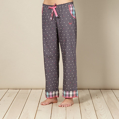 Iris & Edie - Designer grey heart pyjama bottoms