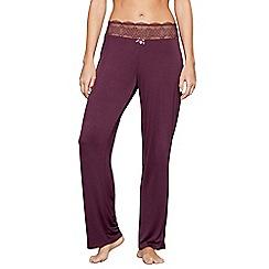 J by Jasper Conran - Purple lace trim 'City Chic' pyjama bottoms
