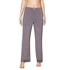 J by Jasper Conran - Dark grey floral print 'Hygge' pyjama bottoms