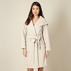 J by Jasper Conran - Designer natural hooded dressing gown