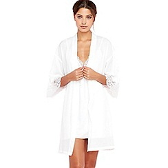The Collection - White dressing gown