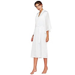 The Collection - White satin dressing gown