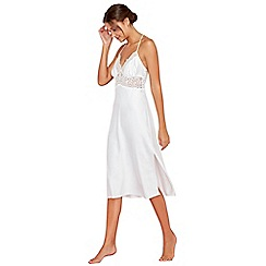 The Collection - White satin lace nightdress