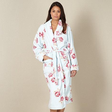 RJR.John Rocha - Online exclusive designer aqua floral fleece dressing gown