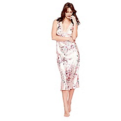 The Collection - Pale pink floral print satin 'Eva' nightdress