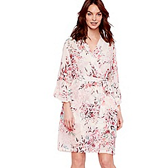 The Collection - Pale pink floral print chiffon 'Eva' dressing gown