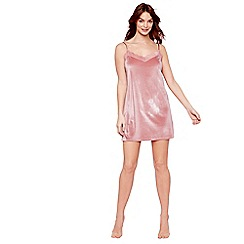 The Collection - Pale pink velour 'Eva' chemise