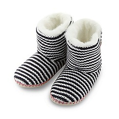 Floozie by Frost French - Designer purple striped boot slippers