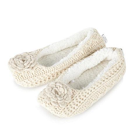 RJR.John Rocha - Designer natural corsage ballet slippers