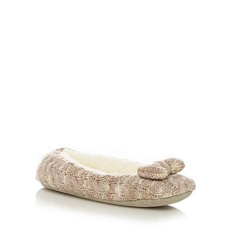 RJR.John Rocha - Designer pink space dye ballet slippers