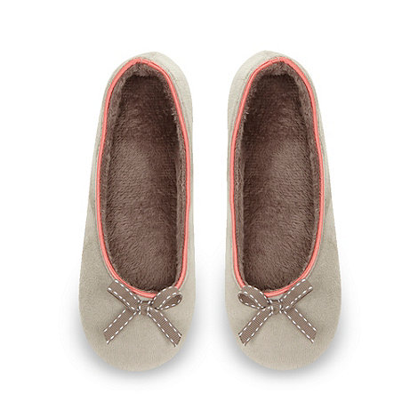 J by Jasper Conran - Designer natural velour ballet slippers
