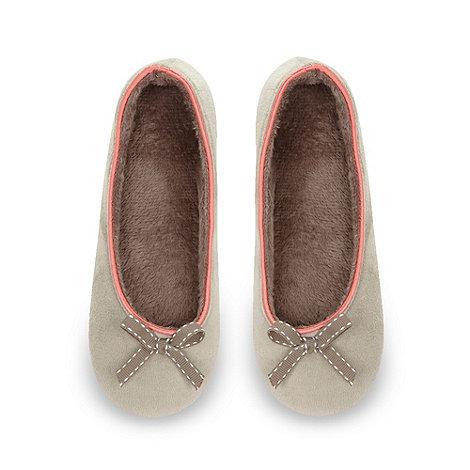 J by Jasper Conran - Designer natural velour ballet slippers