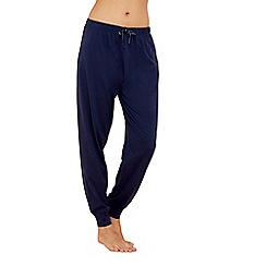 Lounge & Sleep - Navy cotton pyjama bottoms