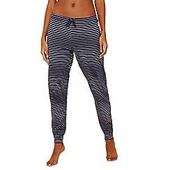 Lounge & Sleep - Navy stripe print pure cotton 'Making Waves' pyjama bottoms