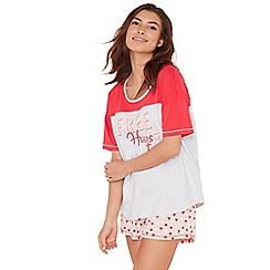 Lounge & Sleep - Dark pink cotton pyjama set